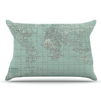 Catherine Holcombe The Olde World Pillow Case Color: Blue/Teal