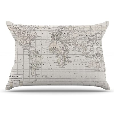 Catherine Holcombe The Olde World Pillow Case Color: Cream/White