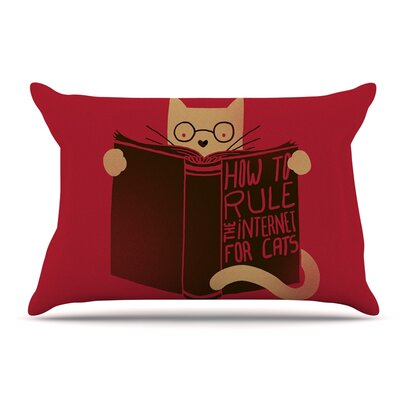 Tobe Fonseca How To Rule The Internet For Cats Typography Pillow Case