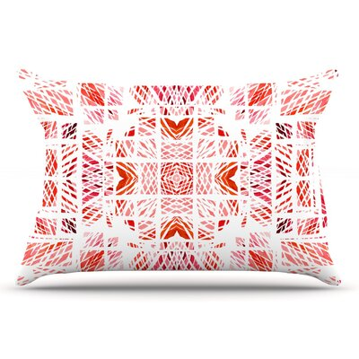 Danii Pollehn Scandanavian Square Pillow Case Color: Pink/Red