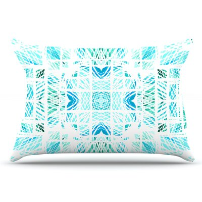 Danii Pollehn Scandanavian Square Pillow Case Color: Blue/Teal
