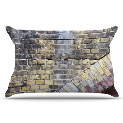Susan Sanders Painted Grunge Brick Wall Pillow Case