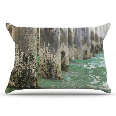 Debbra Obertanec Saltwater Pylons Wooden Pillow Case