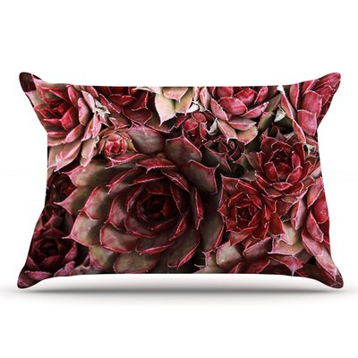 Debbra Obertanec Red Succulents Pillow Case