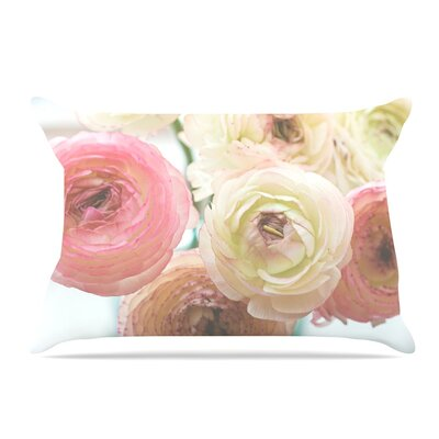 Debbra Obertanec Pastel Ranunculus Pillow Case