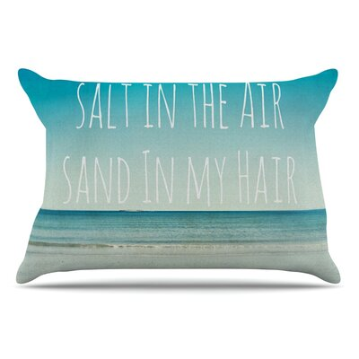 Debbra Obertanec Salt In The Air Ocean Typography Pillow Case