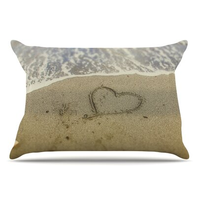 Debbra Obertanec Beach Heart Coastal Pillow Case