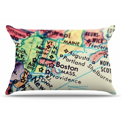 Debbra Obertanec Boston On The Time Pastel Pillow Case