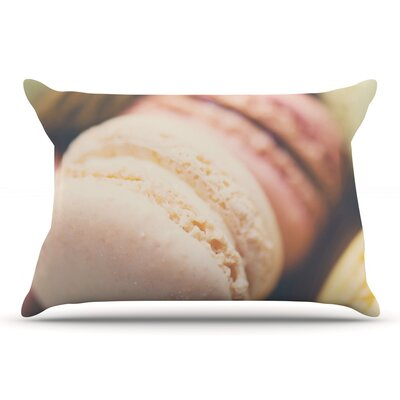 Laura Evans Macaroon Goodness Pastel Food Pillow Case