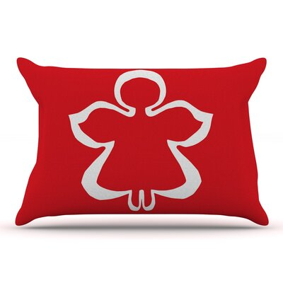 Miranda Mol Flying Angel Red Holiday Pillow Case