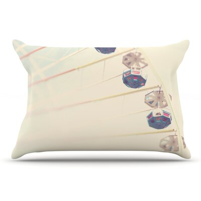 Laura Evans ItS All A Blur Ferris Wheel Pillow Case