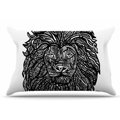 Adriana De Leon The Leon Lion Illustration Pillow Case