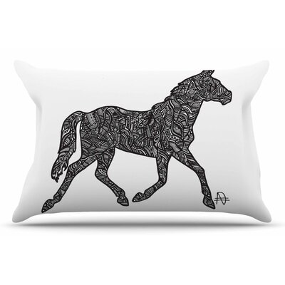 Adriana De Leon Horsie Horse Illustration Pillow Case