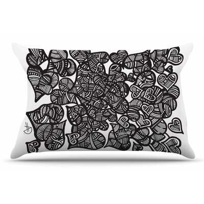 Adriana De Leon Hidden Hearts Pillow Case