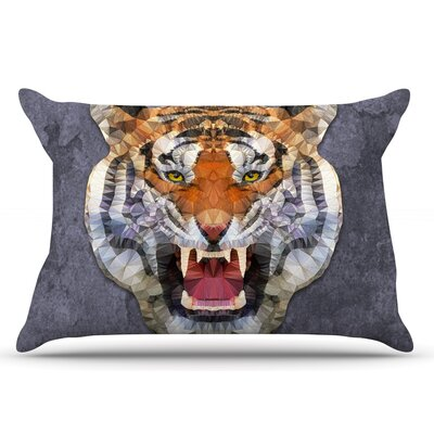Ancello Abstract Tiger Pillow Case
