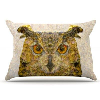 Ancello Abstract Owl Pillow Case