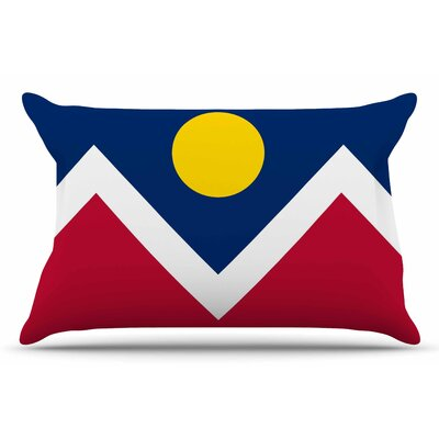 Bruce Stanfield Denver Colorado City Flag Vector Geometric Pillow Case