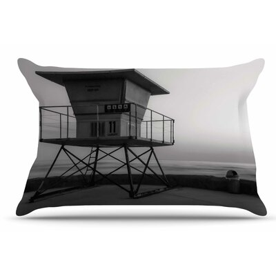 Nick Nareshni Lifeguard Station At Dusk Pillow Case