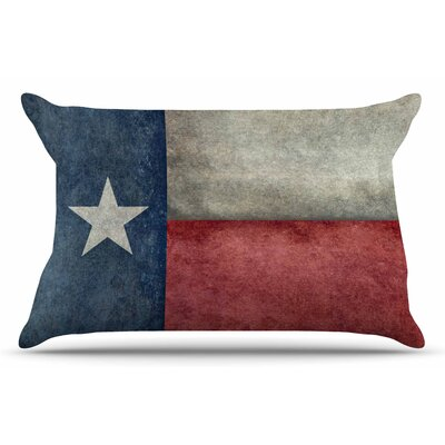 Bruce Stanfield Texas State Flag Vintage Digital Pillow Case