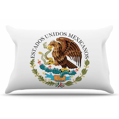 Bruce Stanfield Mexico Emblem Pillow Case