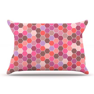 Nandita Singh Blush Tiled Pillow Case