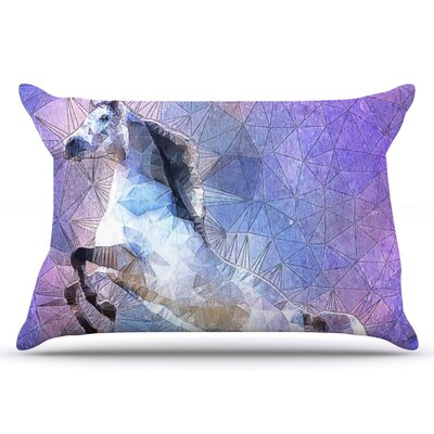 Ancello Abstract Horse Pillow Case