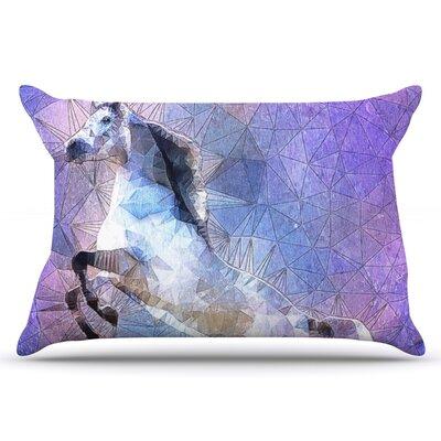 Ancello Abstract Horse Pillow Case