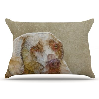 Ancello Abstract Dog Geometric Pillow Case