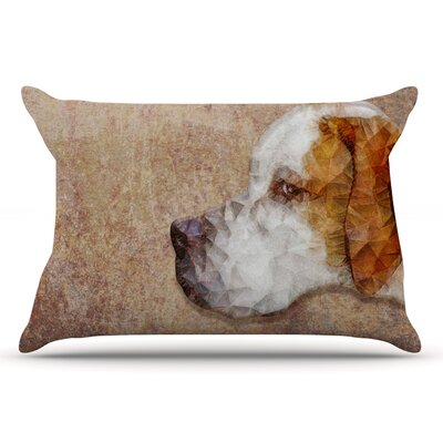 Ancello Abstract Beagle Geometric Pillow Case