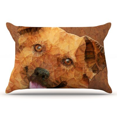 Ancello Abstract Puppy Geometric Pillow Case