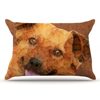 Ancello Abstract Puppy Geometric Pillow Case