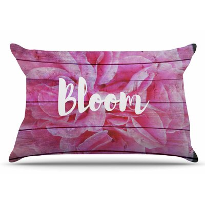 Suzanne Carter Bloom Typography Floral Pillow Case