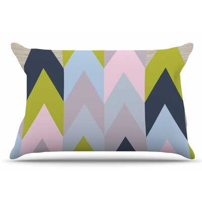 Suzanne Carter Woodgrain Geometric Pillow Case
