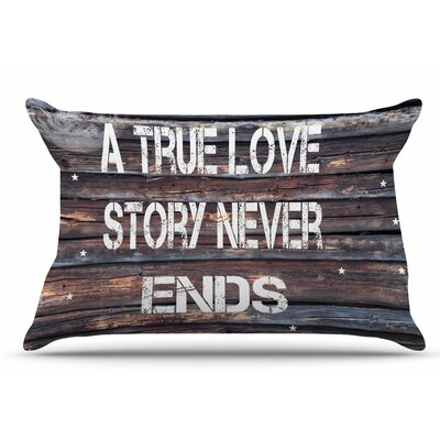 Suzanne Carter True Love Contemporary Typography Pillow Case