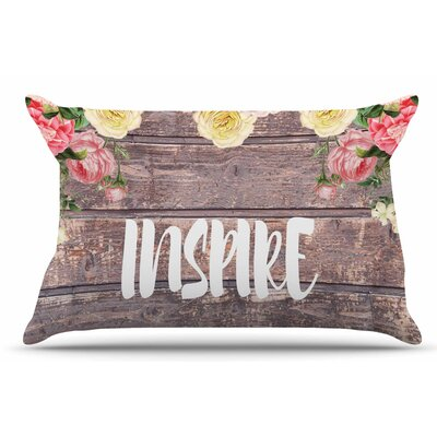 Suzanne Carter Inspire Contemporary Typography Pillow Case