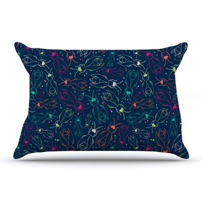 Laura Escalante Fireflies Midnight Garden Dark Pillow Case
