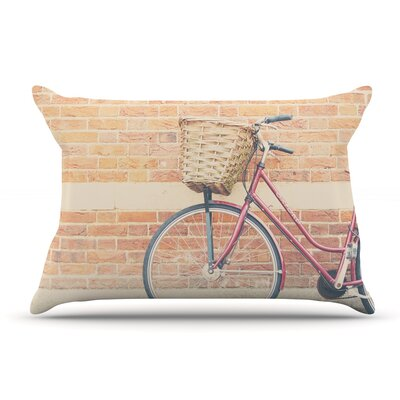 Laura Evans A Bicycle Pillow Case