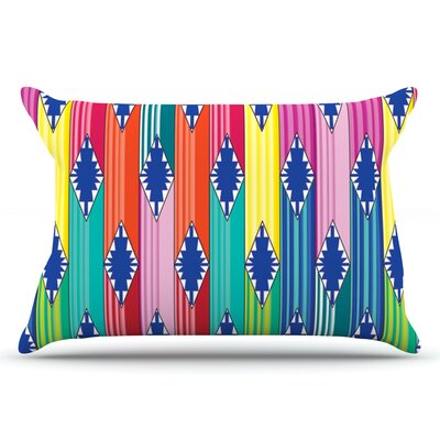 Anneline Sophia Blanket Rainbow Tribal Pillow Case