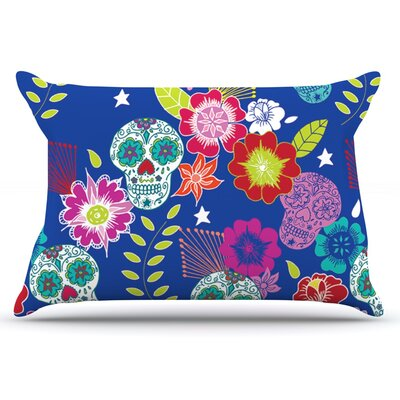 Anneline Sophia Day Of The Dead Aztec Pillow Case