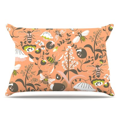 Very Sarie 'Hope For The Flowers I' Coral Pillow Case