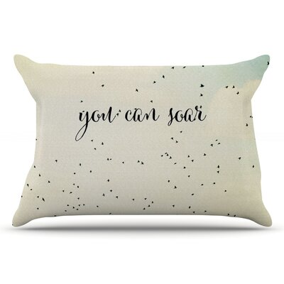 Susannah Tucker You Can Soar Typography Pillow Case