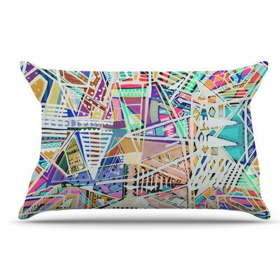 Vasare Nar Abstract Geometric Playground Pastel Pillow Case