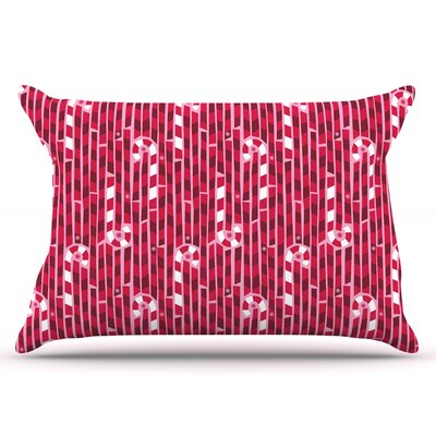 Allison Beilke Candy Cane Lane Pillow Case