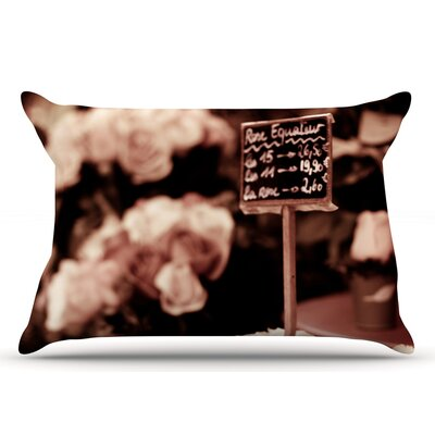 Ann Barnes Paris Flower Market Pillow Case