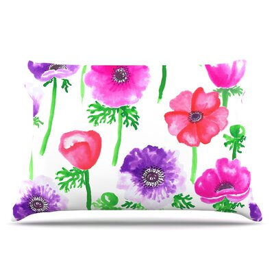 Anneline Sophia Anemones Flowers Pillow Case