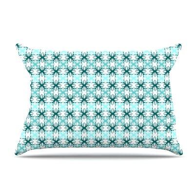 Nandita Singh Pink Motifs Pillow Case Color: Aqua