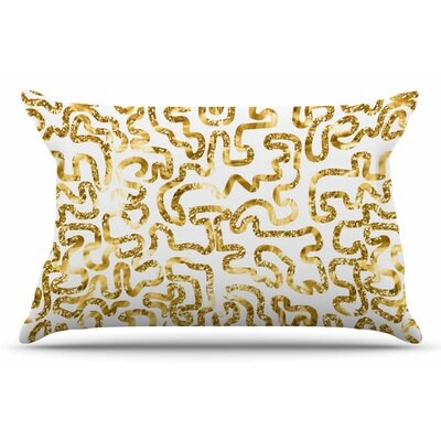 Anneline Sophia Squiggles In Gold Pillow Case