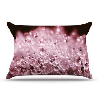 Monika Strigel Dandelion Diamonds Pillow Case Color: Red/Pink