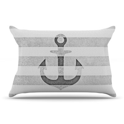 Monika Strigel Stone Vintage Anchor Gray Pillow Case Color: Gray/White Gray