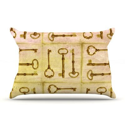 Marianna Tankelevich Secret Keys Pillow Case Color: Tan Brown